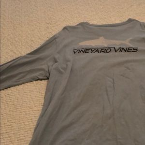 Blue Long Sleeve Vineyard Vines Shirt